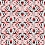 Design seamless colorful mosaic checked pattern. Abstract warped textured background. Vector art