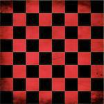 Illustration of grunge red checker board, abstract background.