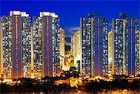 Public Estate in Hong Kong at night Stock Photo - Royalty-Freenull, Code: 400-07634388