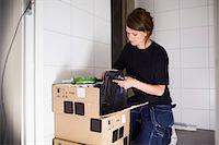 Female carpenter working at site Stock Photo - Premium Royalty-Free, Artist: Blen