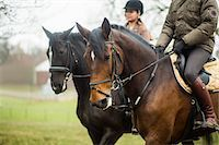 Young couple riding horses Stock Photo - Premium Royalty-Freenull, Code: 698-07635324