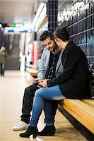 platform - Full length of business people talking at subway station Stock Photo - Premium Royalty-Freenull, Code: 698-07635483