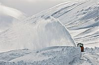 Snow blower clearing road on Oxnadalsheidi close to the town Akureyri , Iceland Stock Photo - Premium Royalty-Freenull, Code: 649-07648243