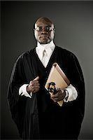 Portrait of confident judge Stock Photo - Premium Royalty-Freenull, Code: 6113-07648746