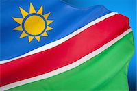 Flag of Namibia Stock Photo - Premium Royalty-Freenull, Code: 618-07653777