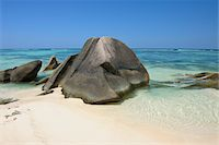 exotic outdoors - Anse Source d'Argent with Sculpted Rocks, La Digue, Seychelles Stock Photo - Premium Royalty-Free, Artist: Martin Ruegner, Code: 600-07653895