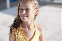 preteen bathing suit - Girl in swimsuit Stock Photo - Premium Royalty-Freenull, Code: 635-07670864