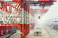 ships at sea - Yangshan Deep-Water Port, near Shanghai, Zhonghua, Hangzhou Bay, China Stock Photo - Premium Rights-Managednull, Code: 700-07672183