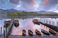 Boats moored on Derwent Water at dawn in autumn, Keswick, Lake District, Cumbria, England, United Kingdom, Europe Stock Photo - Premium Rights-Managed, Artist: Robert Harding Images, Code: 841-07673418