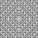 Design seamless monochrome circle pattern. Uncolored geometric ellipse diagonal background. Vector art