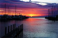 Image of a beautiful sunset at boat marina Stock Photo - Royalty-Freenull, Code: 400-07680821