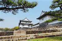 Osaka castle and moat at day Stock Photo - Royalty-Freenull, Code: 400-07681780