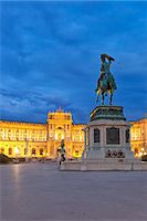 Austria, Osterreich. Vienna, Wien. Hofburg Complex. Heldenplatz. The Imperial Palace, Archduke Charles statue and Prince Eugene of Savoy equestrian statue. Stock Photo - Premium Rights-Managed, Artist: AWL Images, Code: 862-07689820