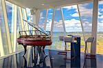 Denmark, Hillerod, Copenhagen.  A Poul Henningsen piano in the Sky Bar at the Bella Sky Comwell Hotel.