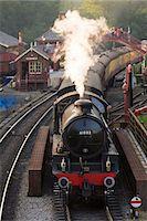 steam engine - United Kingdom, England, North Yorkshire, Goathland. The steam train 61002, 'Impala', on the North Yorkshire Moors Railway. Stock Photo - Premium Rights-Managednull, Code: 862-07689986