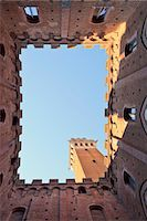 rectangle - Italy, Tuscany, Siena district, Siena. Torre del Mangia Stock Photo - Premium Rights-Managed, Artist: AWL Images, Code: 862-07690183