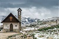 Small mountain church in the Dolomites after a summer snowfall, Cadore, Veneto, Italy Stock Photo - Premium Rights-Managed, Artist: AWL Images, Code: 862-07690237