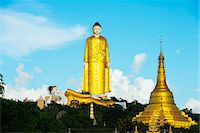 South East Asia, Myanmar, Monywa, Bodhi Tataung, largest buddha statue in the world Stock Photo - Premium Rights-Managed, Artist: AWL Images, Code: 862-07690451