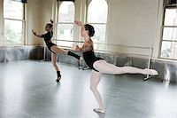 Ballerinas dancing in studio Stock Photo - Premium Royalty-Freenull, Code: 6122-07695419