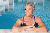 Mature woman in swimming pool Stock Photo - Premium Royalty-Freenull, Code: 6122-07697053