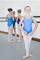 preteen dancing - Ballet dancer standing in studio Stock Photo - Premium Royalty-Freenull, Code: 6122-07700323