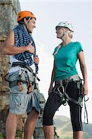 rock climber - Climbers talking on mountain Stock Photo - Premium Royalty-Freenull, Code: 6122-07705003