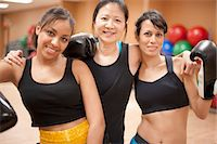 fitness   mature woman - Women with boxing gloves in gym Stock Photo - Premium Royalty-Freenull, Code: 6122-07706599