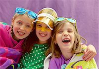 preteen open mouth - Young Girls Wearing Visor and Sunglasses Smiling Stock Photo - Premium Rights-Managed, Artist: ableimages, Code: 822-07708465