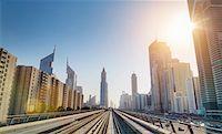 futuristic - Downtown Dubai Metro rails, United Arab Emirates Stock Photo - Premium Royalty-Freenull, Code: 649-07710297