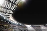 soccer fan - Stadium at night Stock Photo - Premium Rights-Managednull, Code: 858-07711490
