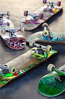 Old Skateboards Stock Photo - Royalty-Free, Artist: mikdam, Code: 400-07712548
