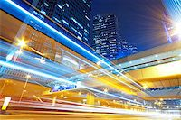 hong kong modern city High speed traffic and blurred light trails Stock Photo - Royalty-Freenull, Code: 400-07715854