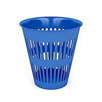 Trash can on white background Stock Photo - Royalty-Freenull, Code: 400-07717935