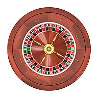 Roulette gambling on white background. Clipping path included. Stock Photo - Royalty-Freenull, Code: 400-07719271