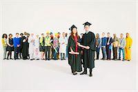 Portrait of confident graduates Stock Photo - Premium Royalty-Freenull, Code: 6113-07730625