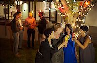 Friends toasting each other at party Stock Photo - Premium Royalty-Freenull, Code: 6113-07730997