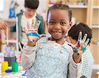 southeast asian - Student with messy hands in classroom Stock Photo - Premium Royalty-Freenull, Code: 6113-07731297
