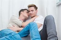Homosexual couple embracing each other Stock Photo - Premium Royalty-Freenull, Code: 6121-07741307
