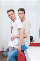 Portrait of homosexual couple embracing each other Stock Photo - Premium Royalty-Freenull, Code: 6121-07741309