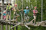 Childrens climbing on crag