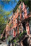 Steps to Houses, New York City, New York, USA