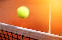 Tennis balls on Court Stock Photo - Royalty-Freenull, Code: 400-07745535