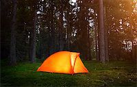 Camping in the Forest Stock Photo - Royalty-Freenull, Code: 400-07745611