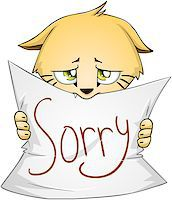 Vector illustration of a cute kitten holds sign of apology Stock Photo - Royalty-Freenull, Code: 400-07749542
