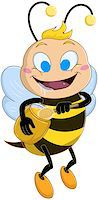 Vector illustration of a cute bee holds honey jar and drools Stock Photo - Royalty-Freenull, Code: 400-07749544