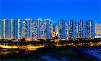 Public Estate in Hong Kong at night Stock Photo - Royalty-Freenull, Code: 400-07754613