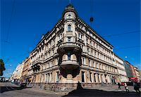 Facade of building in the National Romantic style, Design District Helsinki, Helsinki, Finland Stock Photo - Premium Rights-Managednull, Code: 700-07760120
