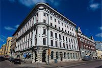 Facade of building in the National Romantic style, Design District Helsinki, Helsinki, Finland Stock Photo - Premium Rights-Managednull, Code: 700-07760121
