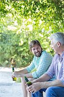 father with two sons not girls - Father and son drinking outdoors Stock Photo - Premium Royalty-Freenull, Code: 6113-07762223