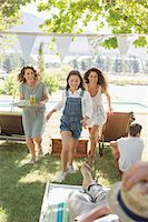 Family running through park together Stock Photo - Premium Royalty-Freenull, Code: 6113-07762480
